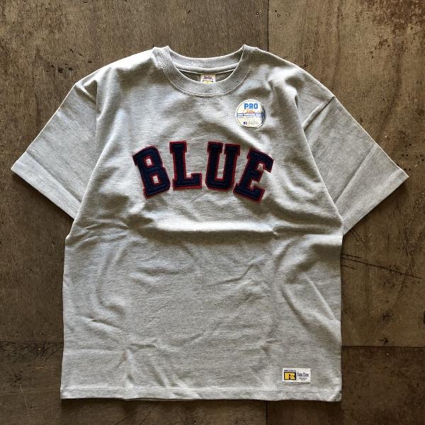 RUSSELL・BLUE BLUE BLUEパッチTシャツ グレー (600x600).jpg