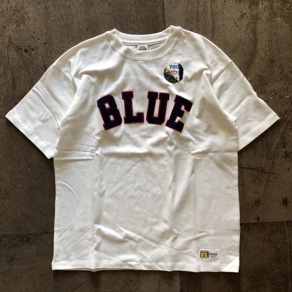 RUSSELL・BLUE BLUE BLUEパッチTシャツ ホワイト (600x600).jpg