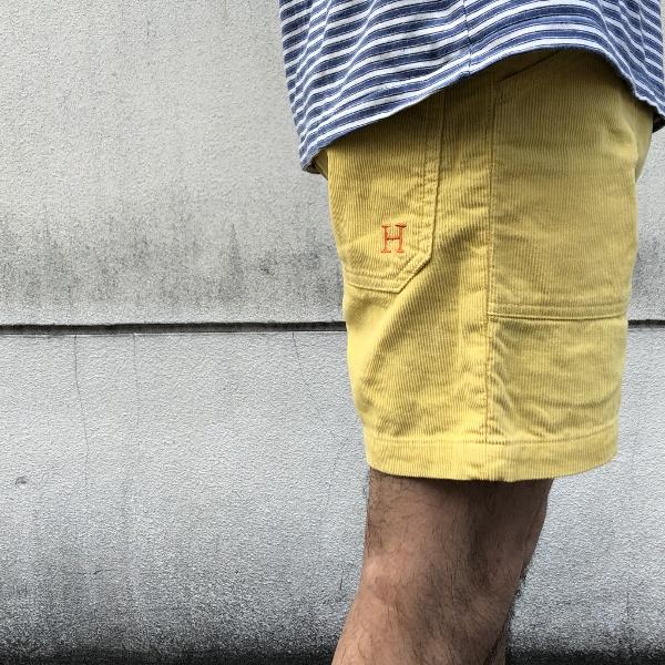 HRM サマーコール ビーチショーツ mustard (600x600).jpg