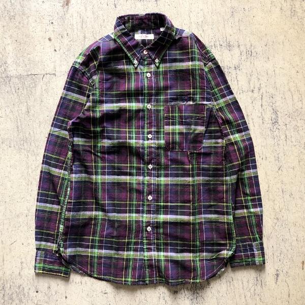 JOURNEYエンブロイダリー マドラスチェックシャツ パープル (600x600).jpg