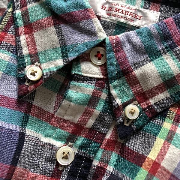 JOURNEYエンブロイダリー マドラスチェックシャツ ホワイト ボタン (600x600).jpg