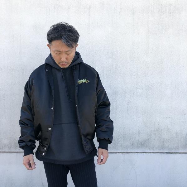 REMI RELIEF ブリーフィング TC裏起毛プルパーカー black コーデ (600x600).jpg