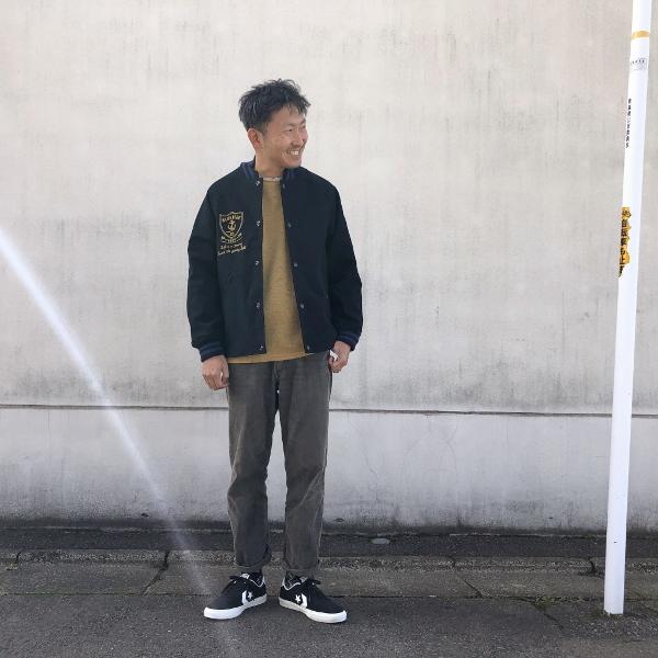 ストレッチモールスキン BBジャーニー EMBラグランアワードジャケット コーデ 2 (600x600).jpg