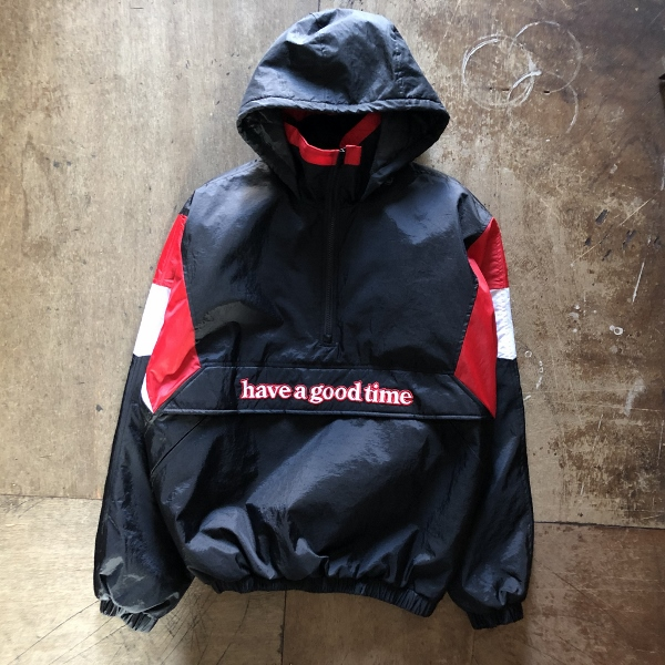 SIDE LOGO PADDED ANORAK JACKET have a good time (600x600).jpg