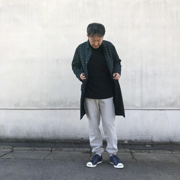 ホールドファスト WAREHOUSE COAT コート ブラックウォッチ コーデ (600x600).jpg