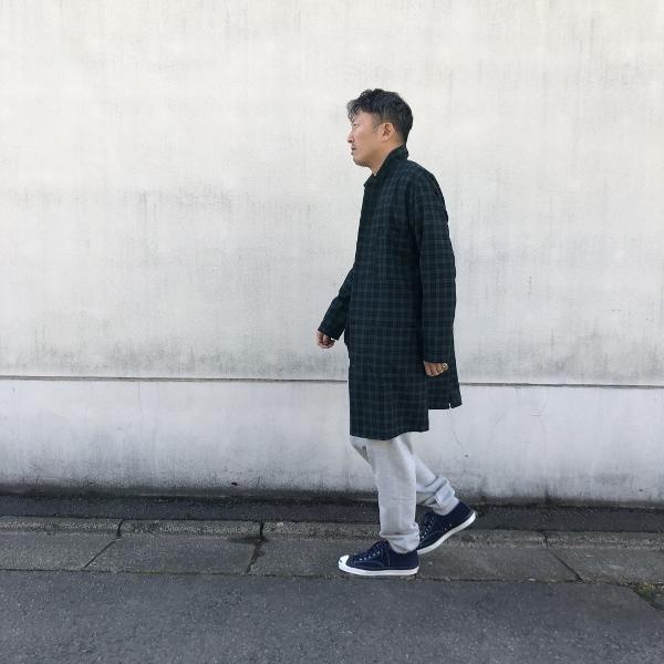 ホールドファスト WAREHOUSE COAT コート ブラックウォッチ スタイリング (600x600).jpg