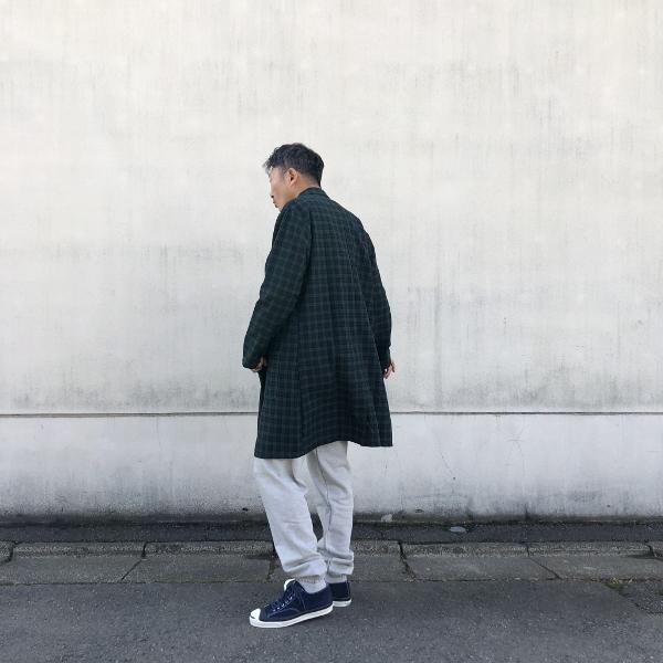 ホールドファスト WAREHOUSE COAT コート ブラックウォッチ 着用 (600x600).jpg