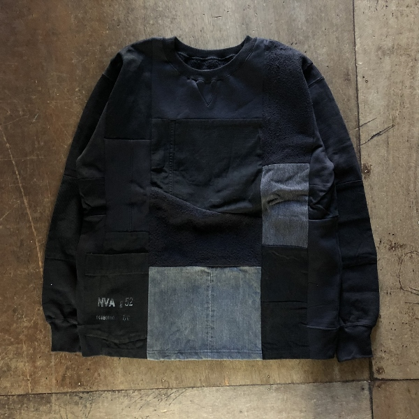 スウェットパッチワーク LS HRR ブラック (600x600).jpg