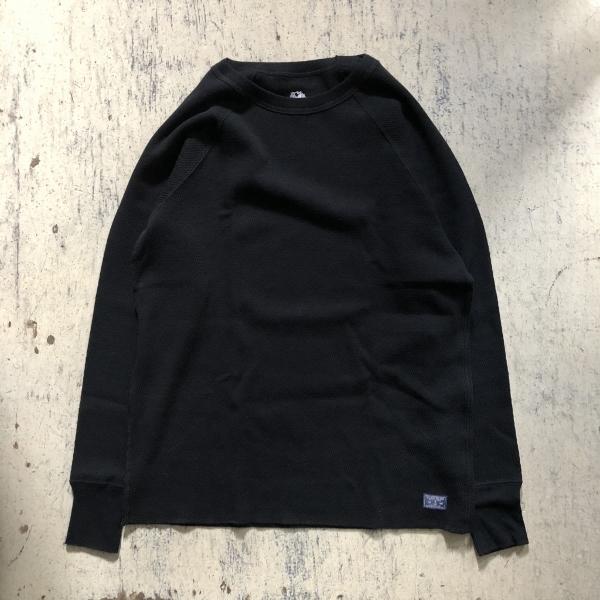 FRUIT OF THE LOOM・BLUE BLUE コットンワッフル パックTシャツ ブラック (600x600).jpg