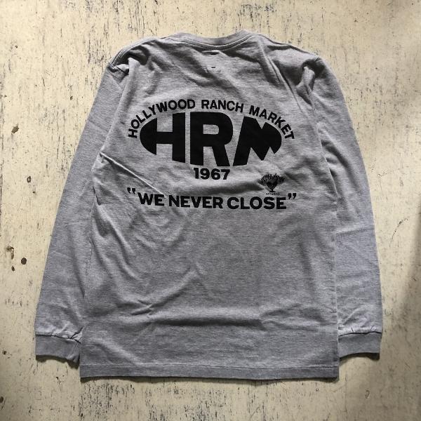 NEW HRM WONDER バックプリントロングスリーブTシャツ グレー (600x600).jpg