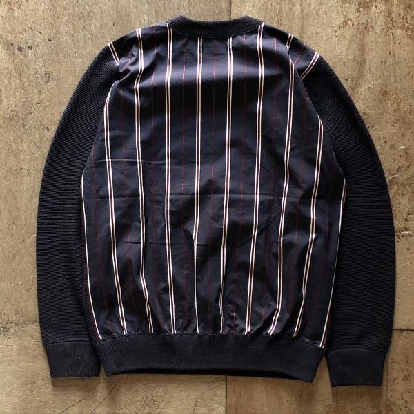 フレッドペリー Men Stripe Panelled Crew Neck Knit 背中 (600x600).jpg