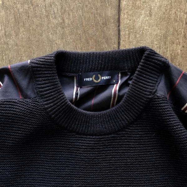 フレッドペリー Men Stripe Panelled Crew Neck Knit 綿 (600x600).jpg