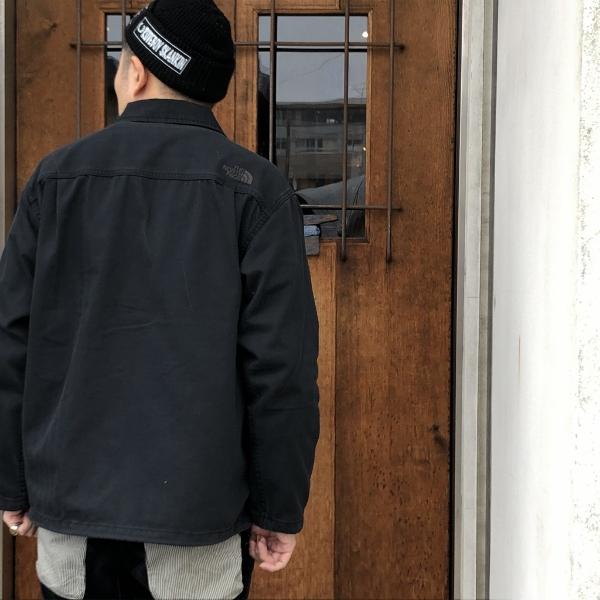 Herringbone Twill C.P.O Jacket ノースフェイス 着用 1 (600x600).jpg