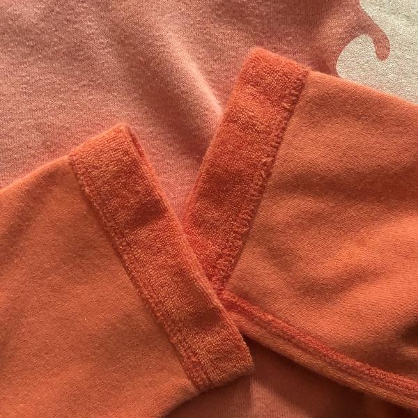 コットンミニパイルカラーサンタンラグラン オレンジ フリーシティー 袖 (600x600).jpg