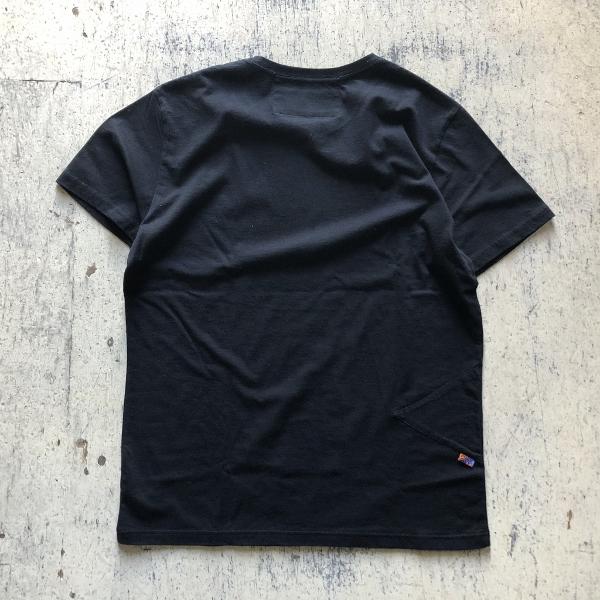 トライアングルパッチ ソフトコットンTシャツ ブラック (600x600).jpg