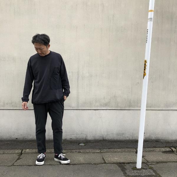 レミレリーフ ブリーフィング 天竺ロンT ブラック 着用L (600x600).jpg