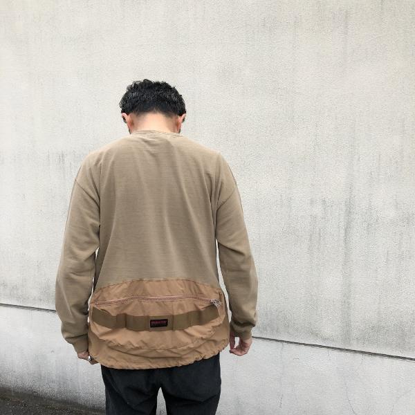 レミレリーフ ブリーフィング 天竺ロンT カーキ 着用 (600x600).jpg