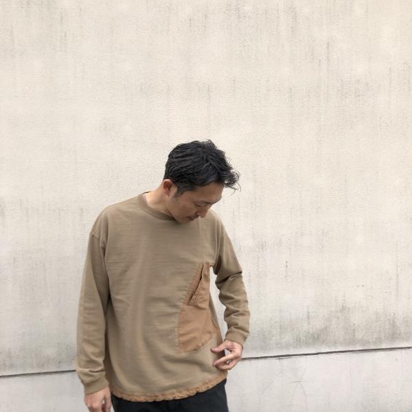 レミレリーフ ブリーフィング 天竺ロンT カーキ 着用 M (600x600).jpg