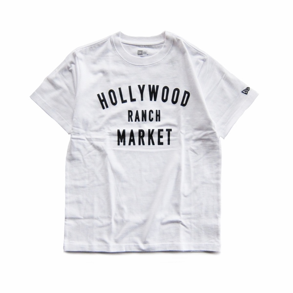 HOLLYWOOD RANCH MARKET NEW ERA×HRM  HR MARKET ショートスリーブTシャツ 白 (600x600).jpg