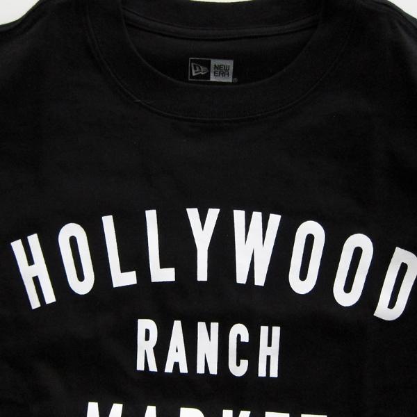 HOLLYWOOD RANCH MARKET NEW ERA×HRM  HR MARKET ショートスリーブTシャツ   黒 アップ (600x600).jpg