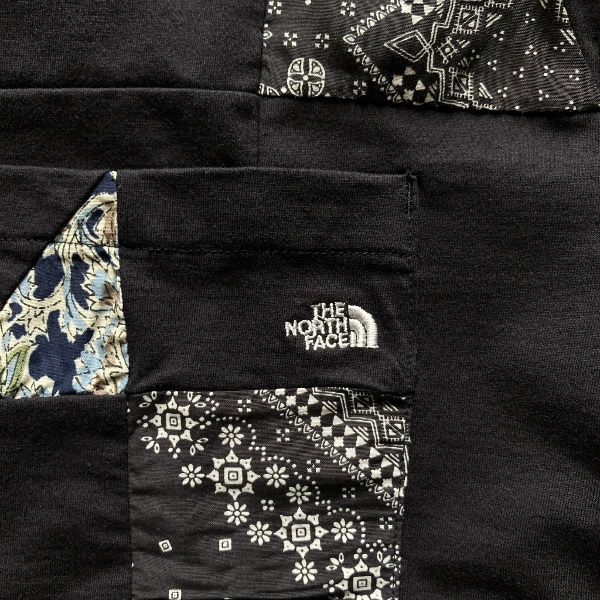 THE NORTH FACE PURPLE LABEL Patchwork HS Tee black ポケット (600x600).jpg