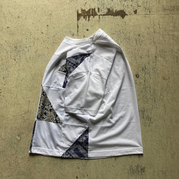 THE NORTH FACE PURPLE LABEL Patchwork HS Tee white サイド (600x600).jpg