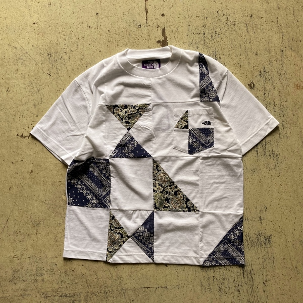 THE NORTH FACE PURPLE LABEL Patchwork HS Tee white (600x600).jpg