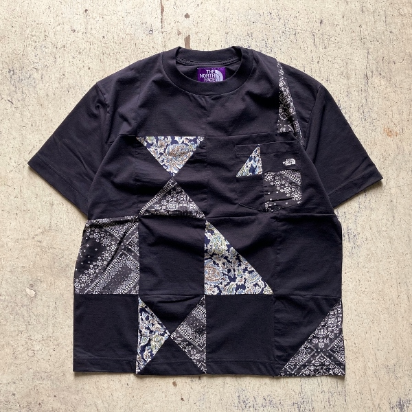 THE NORTH FACE PURPLE LABEL Patchwork HS Tee black (600x600).jpg