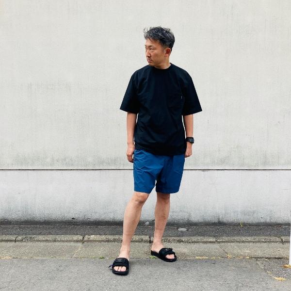 ショートスリーブエアリーポケットティー ノースフェイス コーデ (600x600).jpg