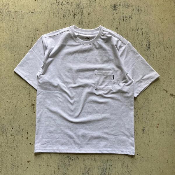 ショートスリーブエアリーポケットティー ノースフェイス ホワイト (600x600).jpg