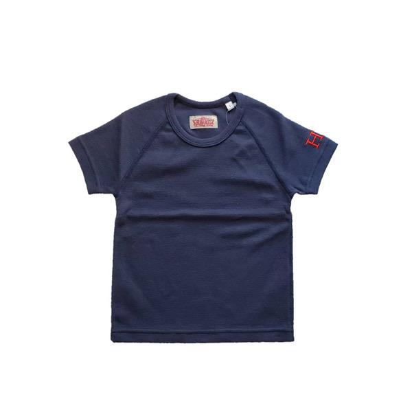 HRM ストレッチフライスショートスリーブTシャツ キッズ ネイビー (600x600).jpg