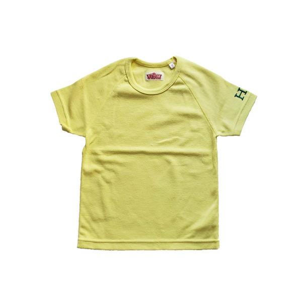 HRM ストレッチフライスショートスリーブTシャツ キッズ イエロー (600x600).jpg