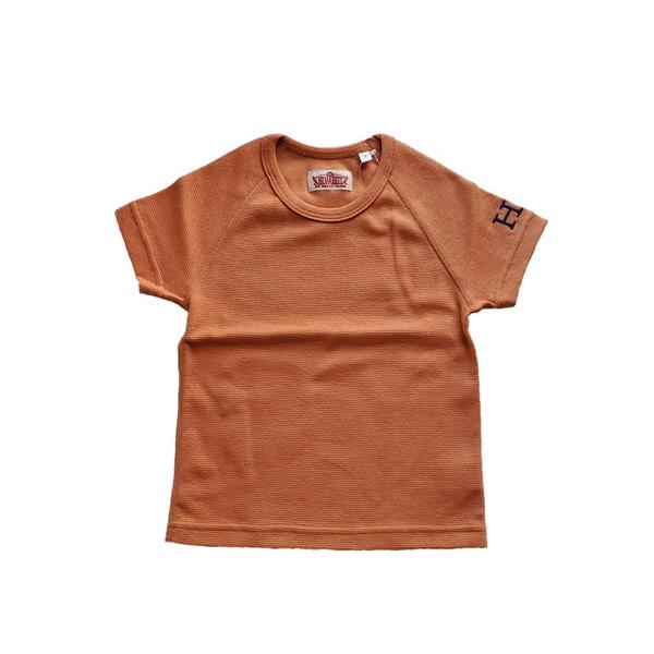 HRM ストレッチフライスショートスリーブTシャツ キッズ オレンジ (600x600).jpg