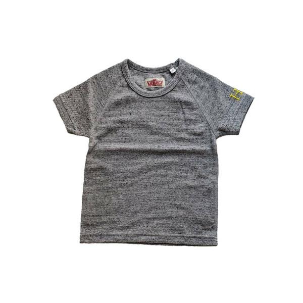 HRM ストレッチフライスショートスリーブTシャツ キッズ グレー (600x600).jpg