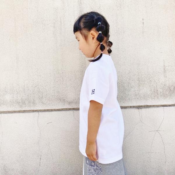 HRM ストレッチフライスショートスリーブTシャツ キッズ ネイビー ホワイト XL 2 (600x600).jpg