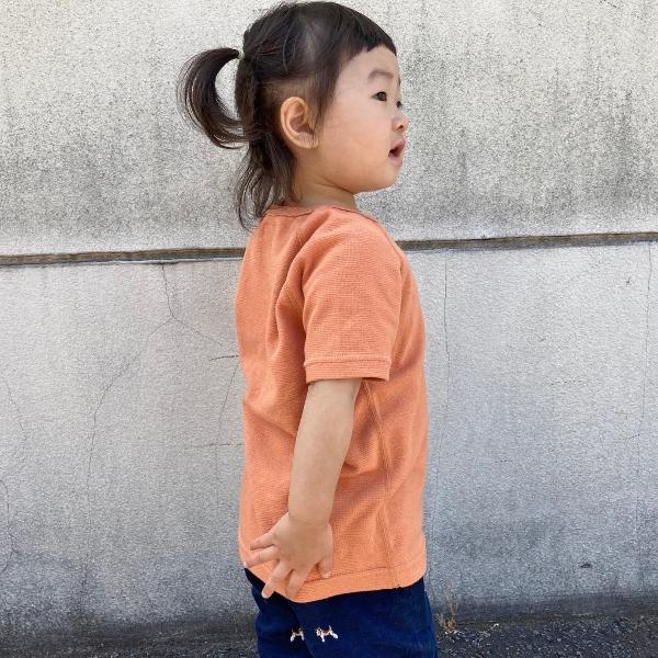 HRM ストレッチフライスショートスリーブTシャツ キッズ オレンジ M 2 (600x600).jpg