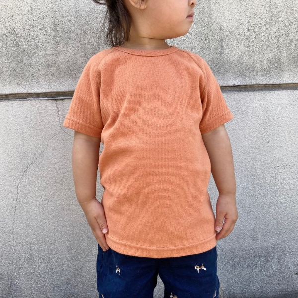 HRM ストレッチフライスショートスリーブTシャツ キッズ オレンジ M (600x600).jpg