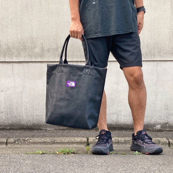 Synthetic Leather Tote north face purple label ナナミカ (600x600).jpg