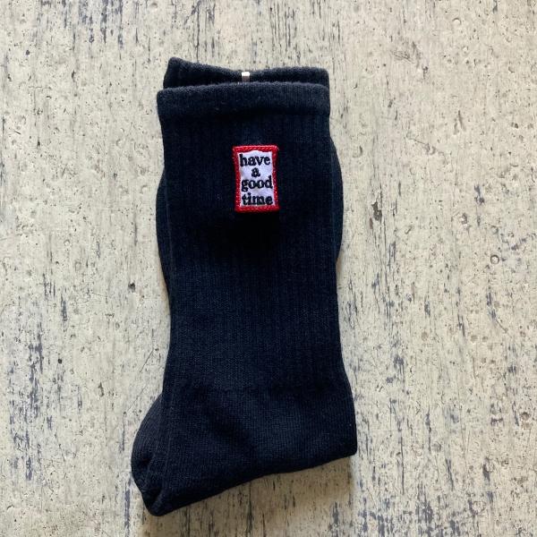 have a good time socks ブラック (600x600).jpg