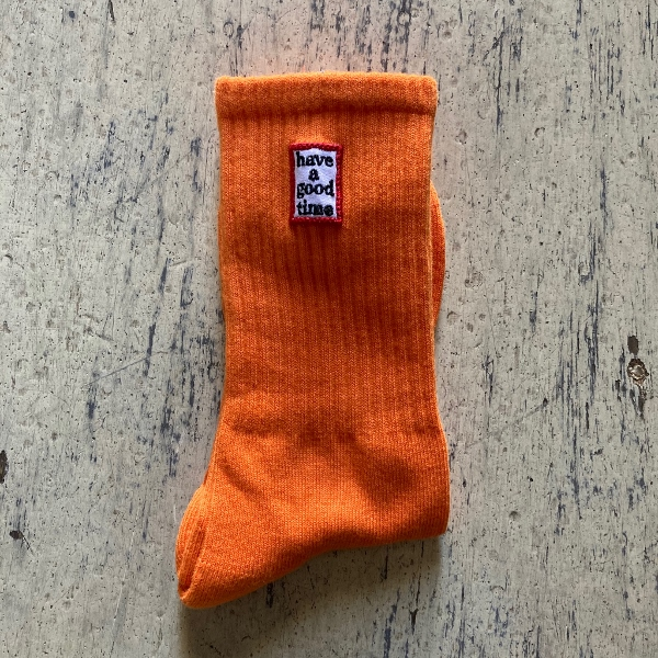 have a good time socks オレンジ (600x600).jpg