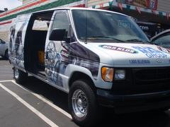 ラジオ局のイベントカーです。