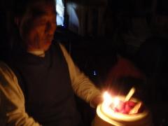 8月3日、お父さんの誕生日に〜〜!!