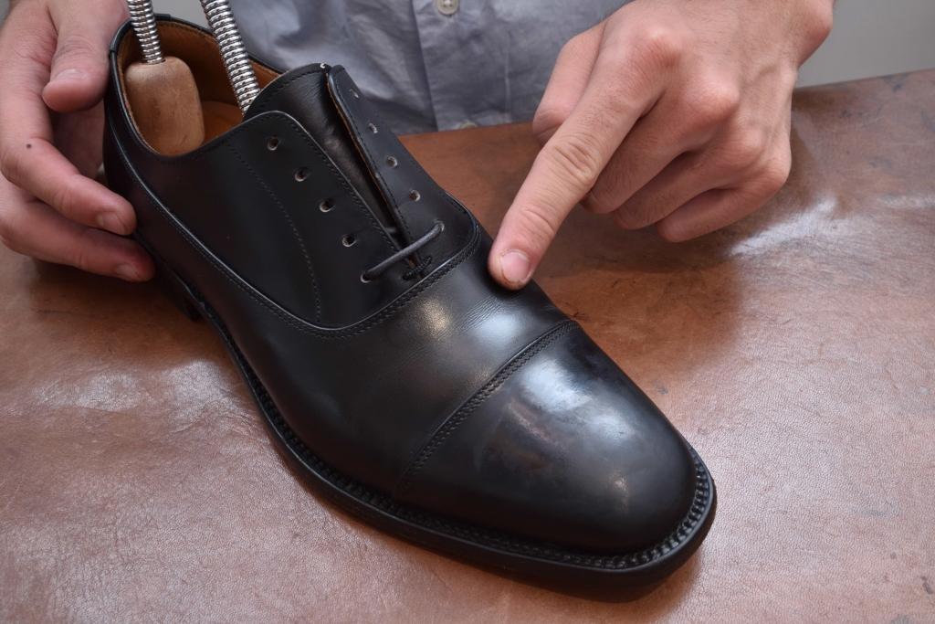 革靴の履きジワの様子