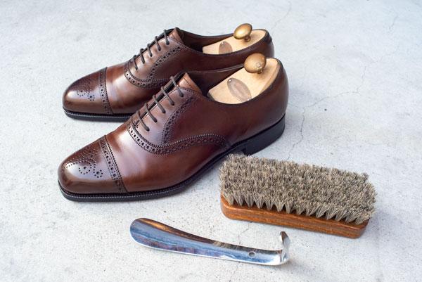 3種の神器靴べら馬毛のブラシシューツリー