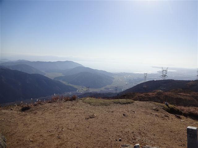 頂上より琵琶湖