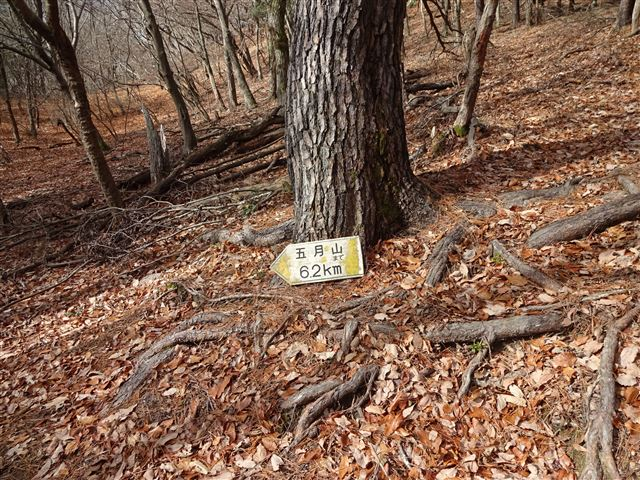 五月山への標識