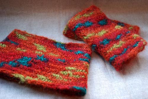 ヘリンボーン編み