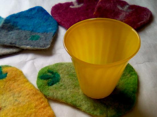 石鹸水フェルトコースター