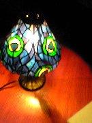 ステンドグラスのランプ♪