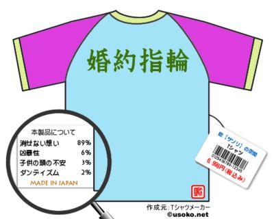 蠍【サソリ】の空間Tシャツ